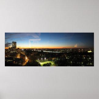 Boston Skyline at Sunset Poster