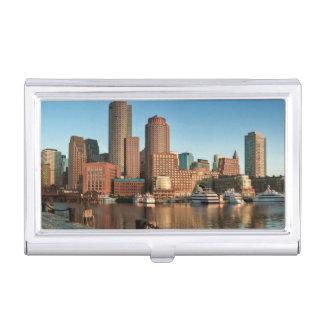 Boston skyline business card holder