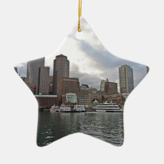 Boston Skyline Ceramic Star Decoration