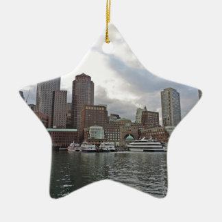 Boston Skyline Christmas Ornament