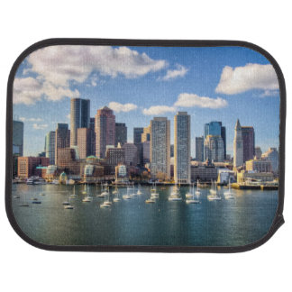 Boston skyline from waterfront car mat