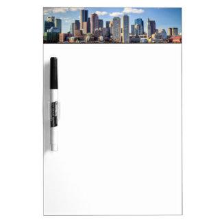 Boston skyline from waterfront dry erase board