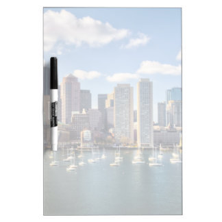 Boston skyline from waterfront dry erase board