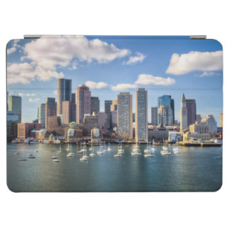 Boston skyline from waterfront iPad air cover