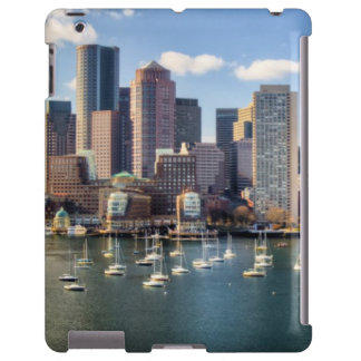 Boston skyline from waterfront iPad case