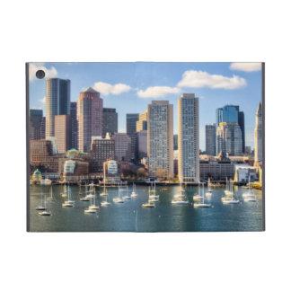 Boston skyline from waterfront iPad mini case
