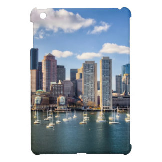 Boston skyline from waterfront iPad mini cases