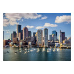 Boston skyline from waterfront poster