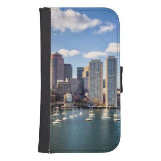 Boston skyline from waterfront samsung s4 wallet case