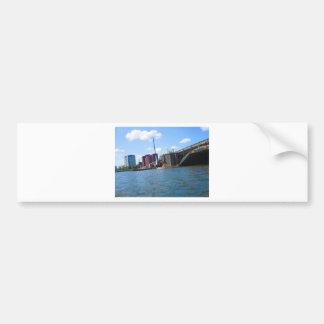 Boston skyline lake view bridges ferries fantastic bumper sticker