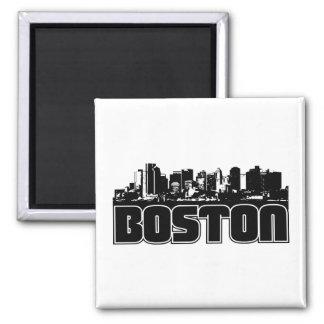 Boston Skyline Square Magnet
