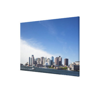 Boston Skyline, Massachusetts Stretched Canvas Prints
