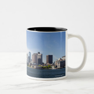 Boston Skyline, Massachusetts Two-Tone Coffee Mug