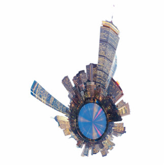 boston skyline mini planet standing photo sculpture