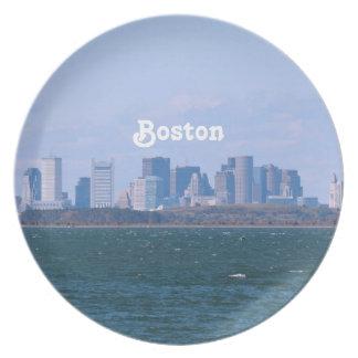 Boston Skyline Party Plate