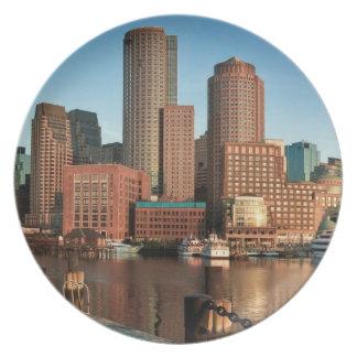 Boston skyline plate