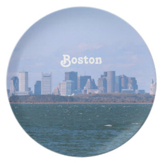 Boston Skyline Plates
