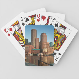 Boston skyline playing cards