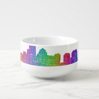 Boston skyline soup mug