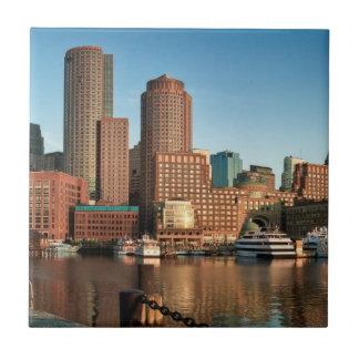 Boston skyline tile