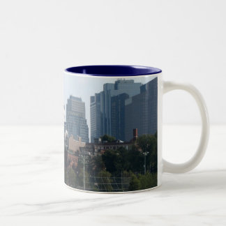Boston Skyline Two-Tone Coffee Mug
