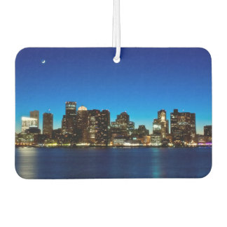 Boston skyline with moon car air freshener