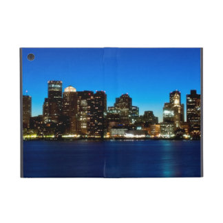 Boston skyline with moon cover for iPad mini