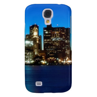 Boston skyline with moon galaxy s4 case