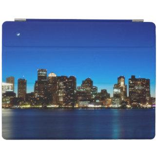 Boston skyline with moon iPad cover