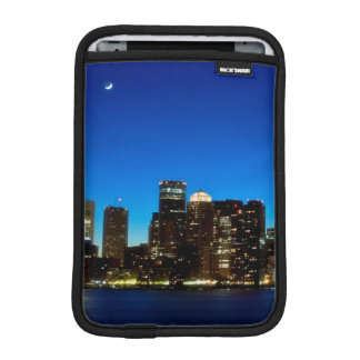 Boston skyline with moon iPad mini sleeve