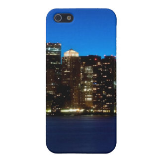 Boston skyline with moon iPhone 5 covers
