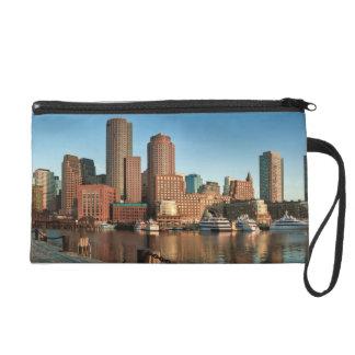 Boston skyline wristlet