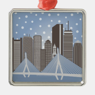 Boston Snowflakes Christmas Ornament