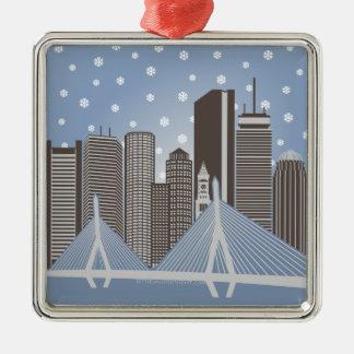 Boston Snowflakes Christmas Ornament