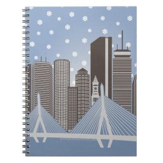 Boston Snowflakes Notebook