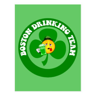 Boston St Patrick's Day Postcard