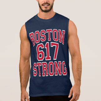 Boston STRONG 617 Typography Sleeveless Shirt