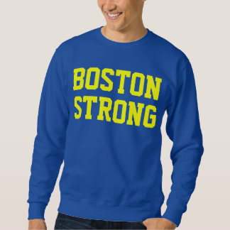 Boston strong blue yellow sweatshirt