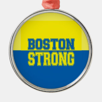 Boston Strong Gift Yellow and Blue Christmas Ornament