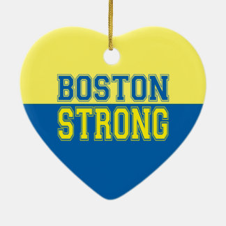 Boston Strong Graphic Style Ceramic Heart Decoration
