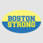 Boston Strong Graphic Style Oval Sticker