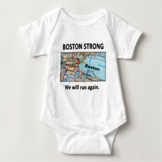 Boston Strong Map Baby Bodysuit