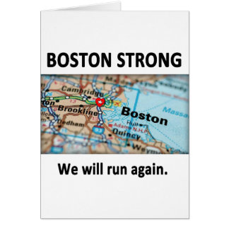 Boston Strong Map Card
