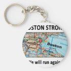 Boston Strong Map Key Ring