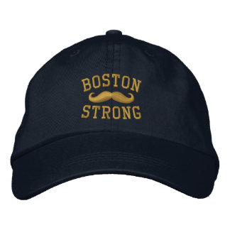 Boston Strong Mustache Embroidered Cap