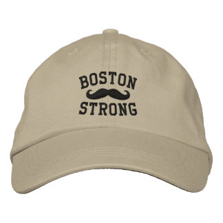 Boston Strong Mustache Embroidered Hat