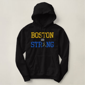Boston Strong Ribbon Edition Embroidered Hoodie