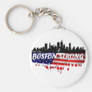 Boston Strong Run Basic Round Button Key Ring