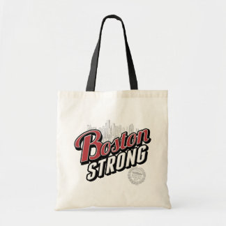 Boston Strong Typographic Style Tote Bag