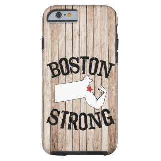 Boston Strong Wood Grain Tough iPhone 6 Case